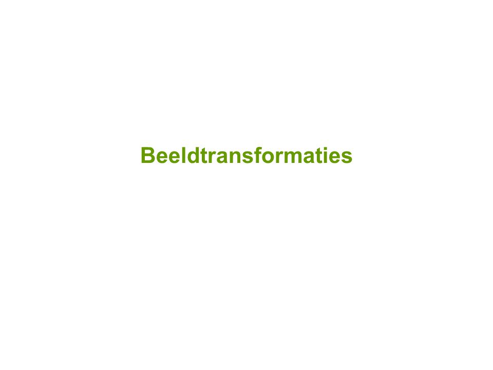 Beeldtransformaties