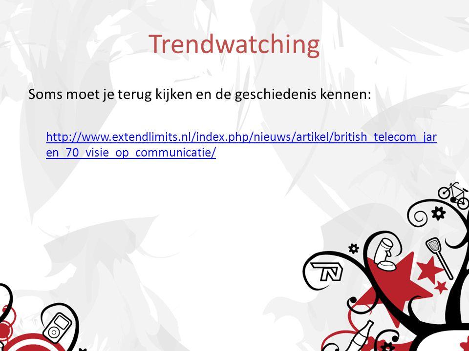 Soms moet je terug kijken en de geschiedenis kennen: http://www.extendlimits.nl/index.php/nieuws/artikel/british_telecom_jar en_70_visie_op_communicatie/