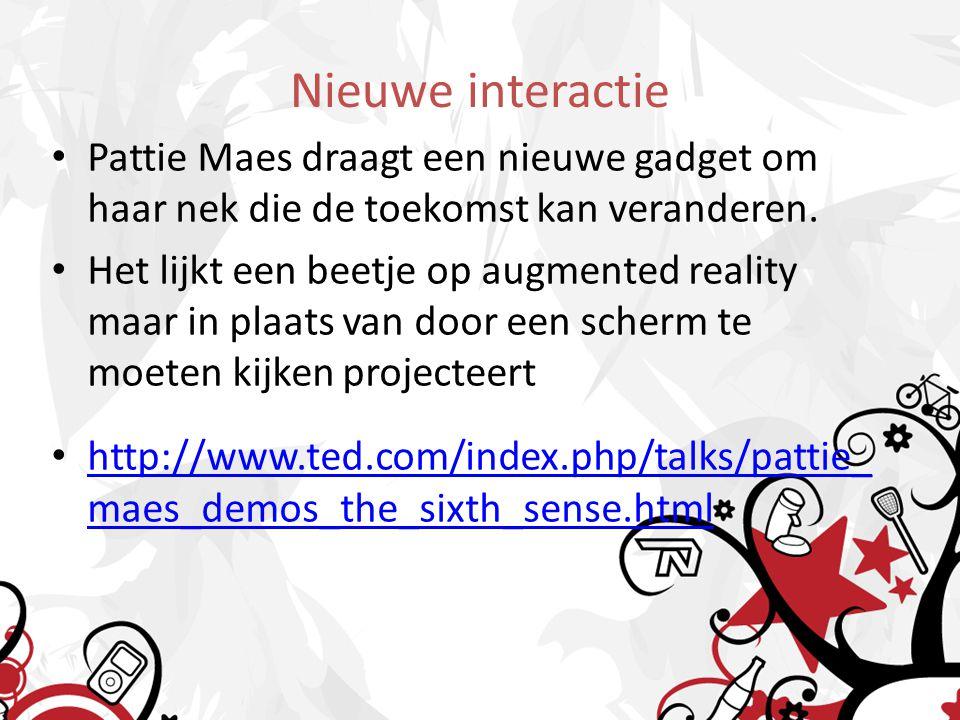 Nieuwe interactie Pattie Maes draagt een nieuwe gadget om haar nek die de toekomst kan veranderen.
