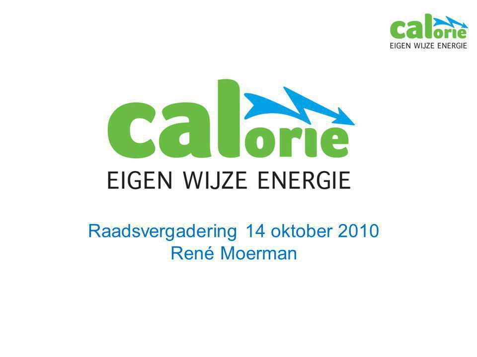 Raadsvergadering 14 oktober 2010 René Moerman