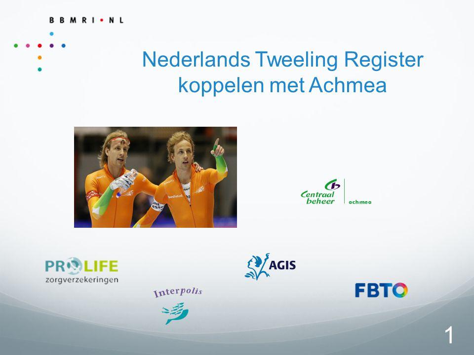 1 Nederlands Tweeling Register koppelen met Achmea
