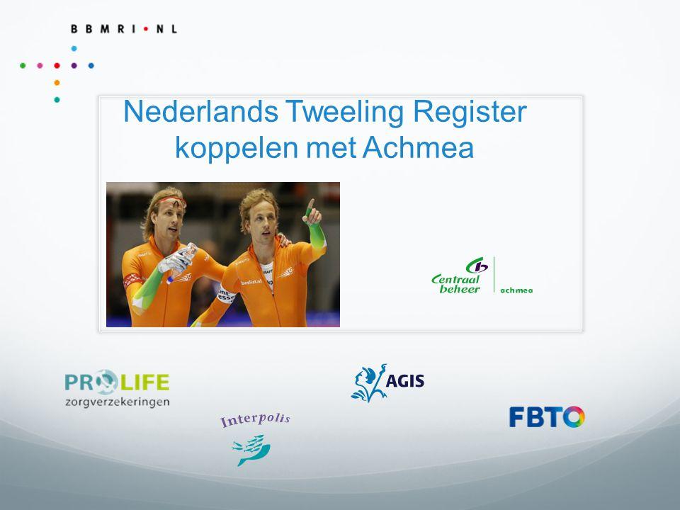 Nederlands Tweeling Register koppelen met Achmea