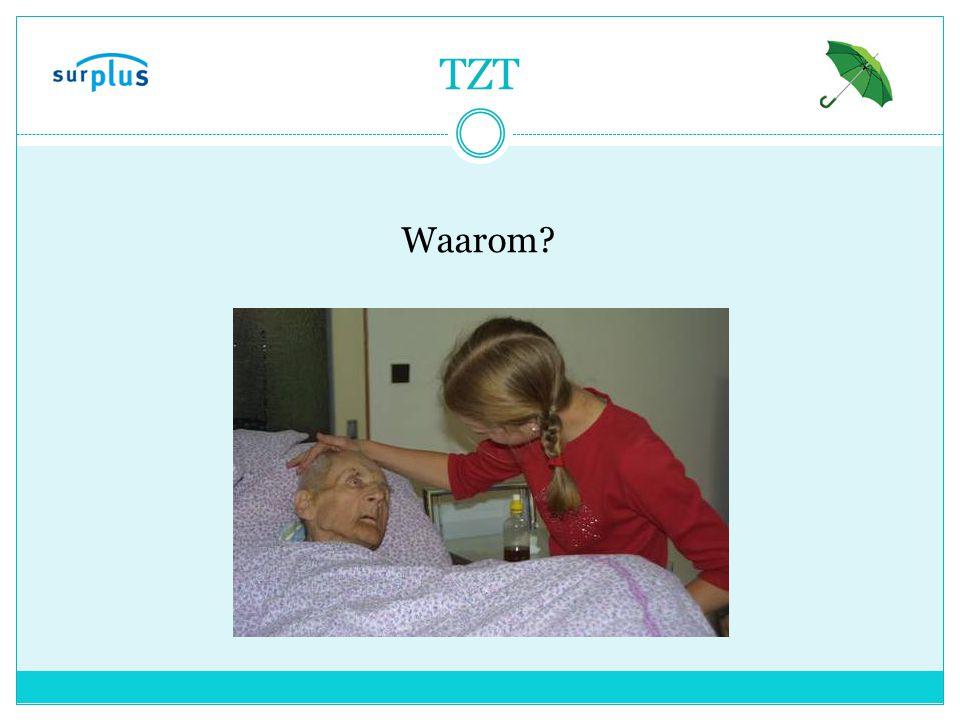 TZT Crisissituatie Wilsonbekwaamheid Voorbereiding op naderend afscheid Verbetering samenwerking hulpverleners Verbetering kwaliteit van leven Kosten