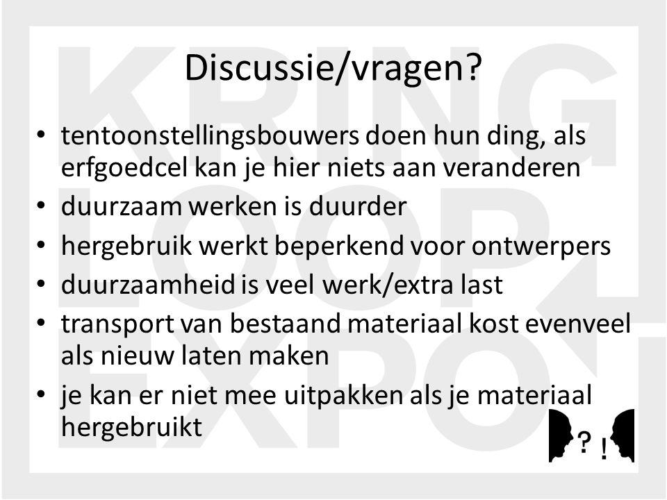 Discussie/vragen.