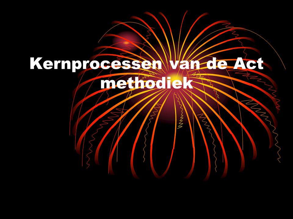 Kernprocessen van de Act methodiek