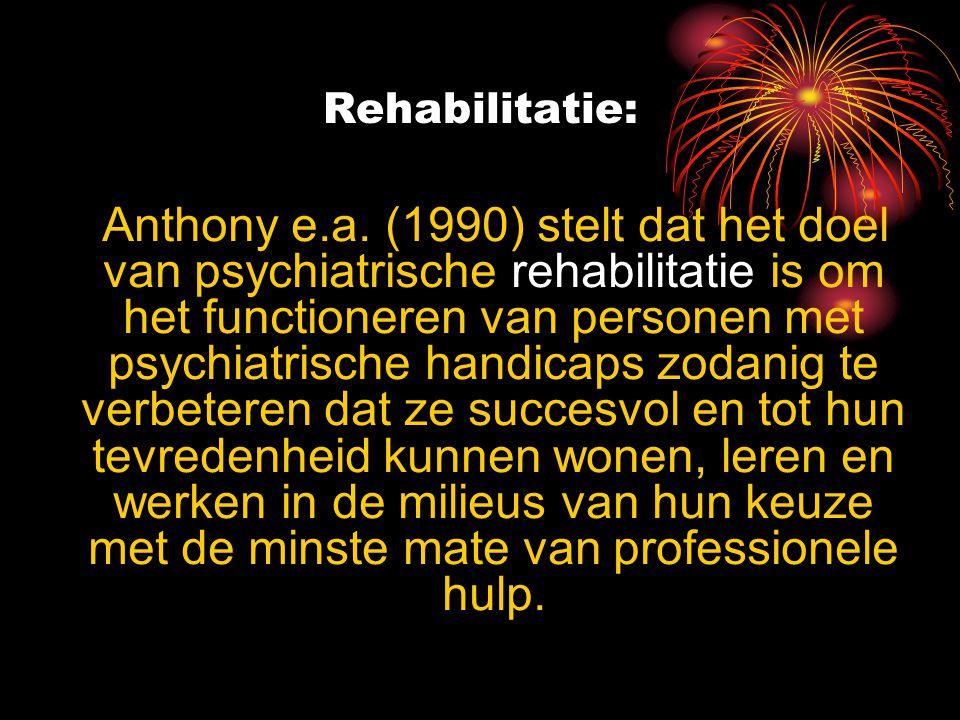 Rehabilitatie: Anthony e.a.