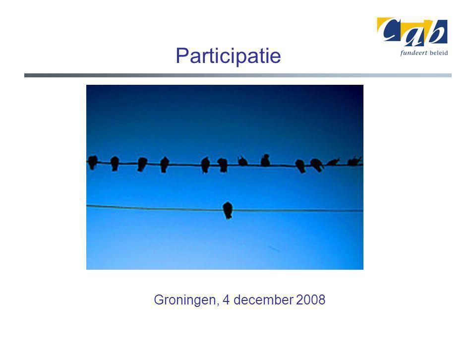 Participatie Groningen, 4 december 2008