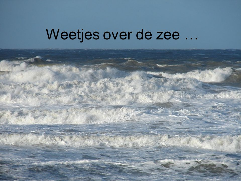 Weetjes over de zee …