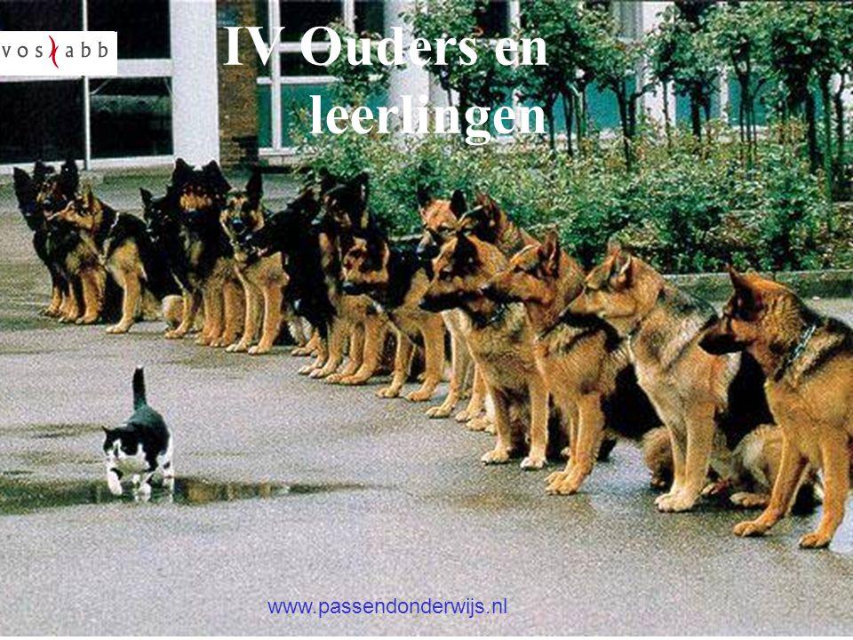 Oudersin het onderwijs? IV Ouders en leerlingen www.passendonderwijs.nl