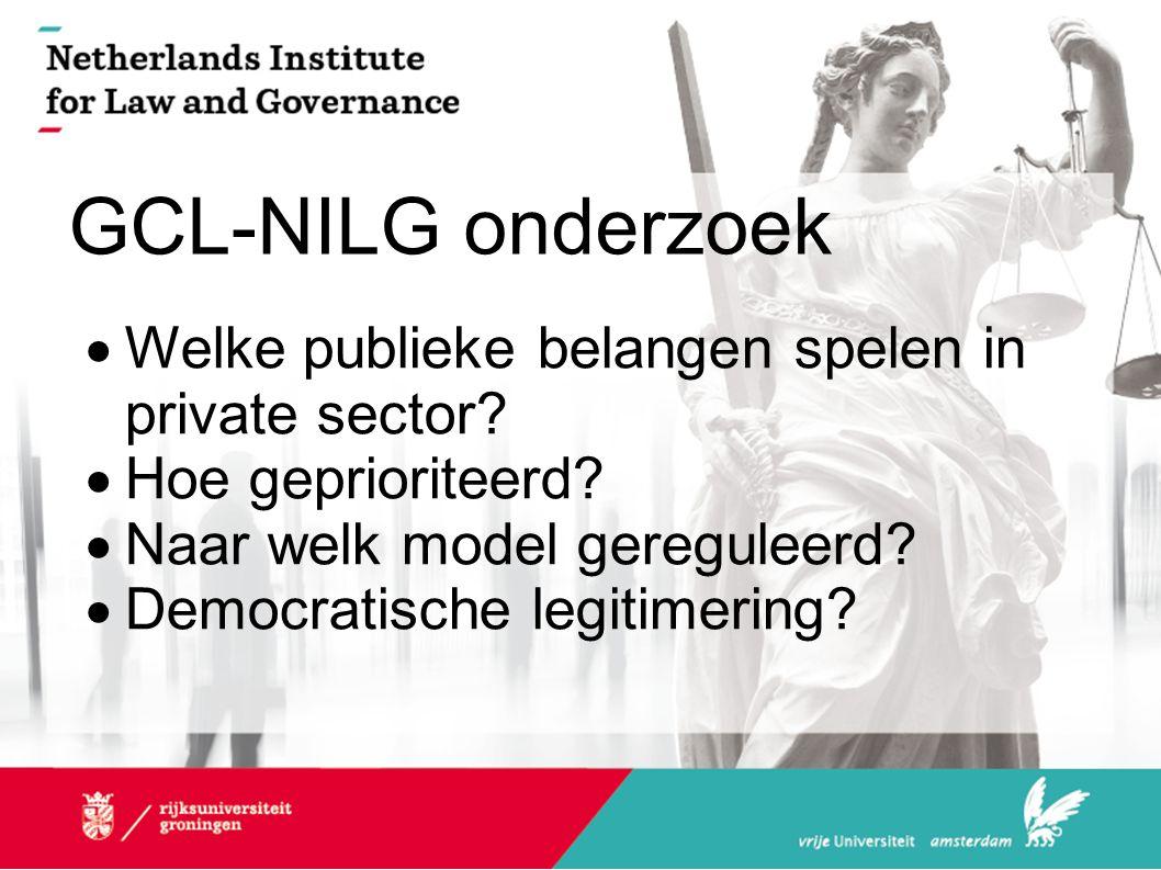 GCL-NILG onderzoek  Welke publieke belangen spelen in private sector.