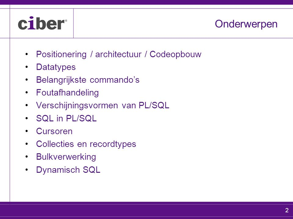 3 Geheugen in Oracle