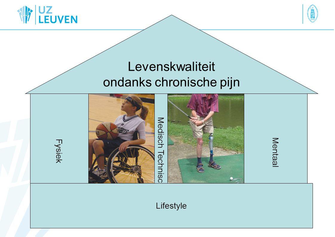 Levenskwaliteit ondanks chronische pijn Fysiek M e d i s c h T e c h n i s c h Mentaal Lifestyle