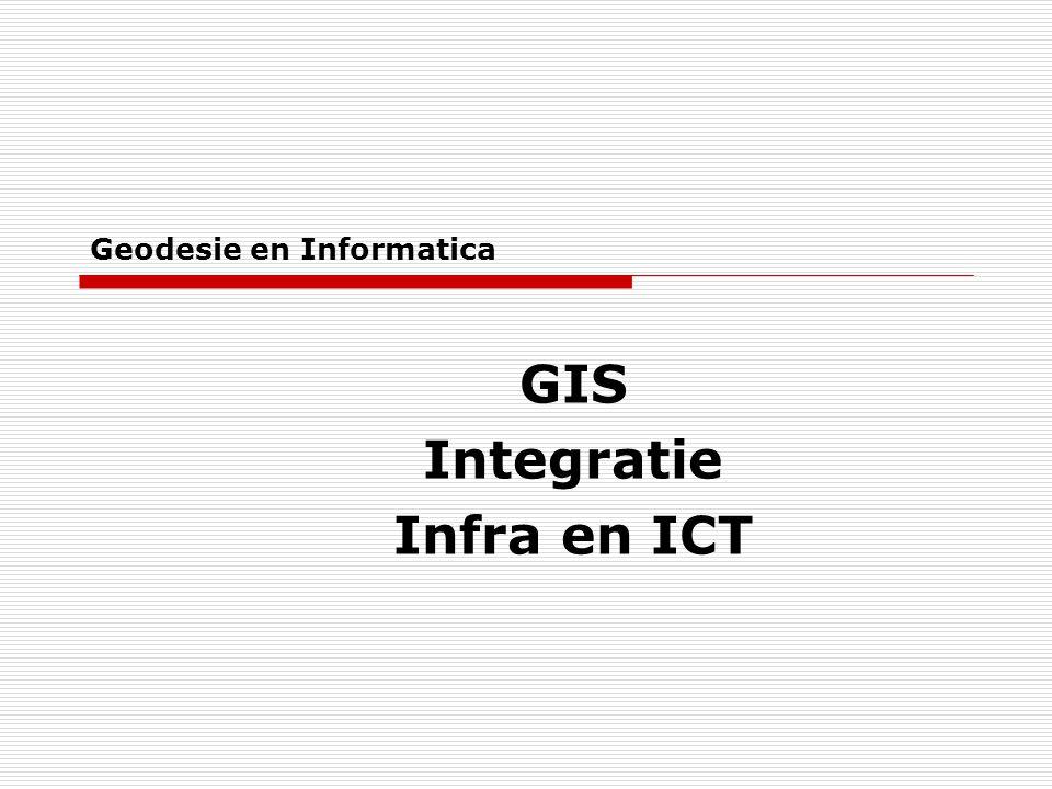 Geodesie en Informatica GIS Integratie Infra en ICT