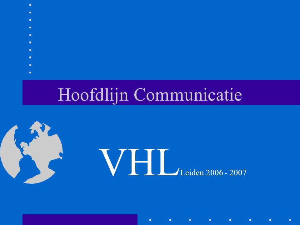 Hoofdlijn Communicatie VHL Leiden 2006 - 2007
