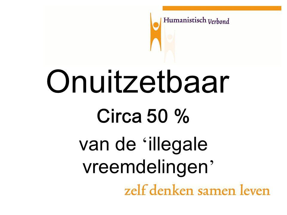 Onuitzetbaar Circa 50 % van de ' illegale vreemdelingen '