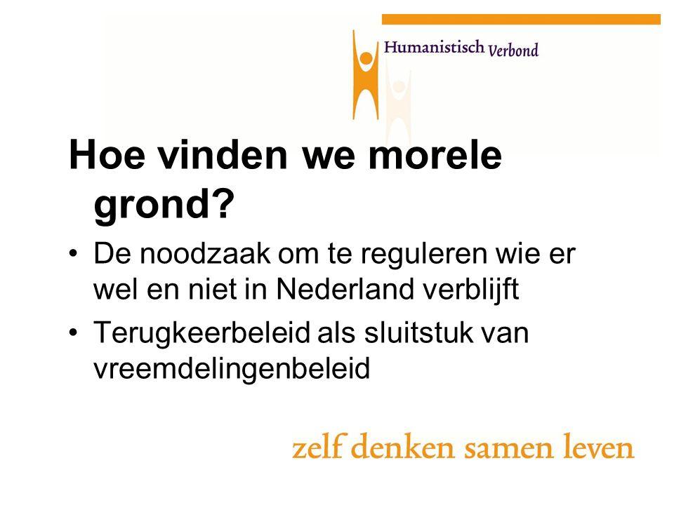 Hoe vinden we morele grond? De noodzaak om te reguleren wie er wel en niet in Nederland verblijft Terugkeerbeleid als sluitstuk van vreemdelingenbelei