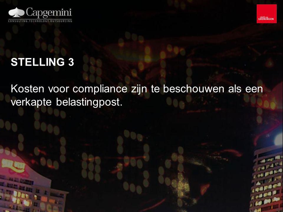 STELLING 3 Kosten voor compliance zijn te beschouwen als een verkapte belastingpost.