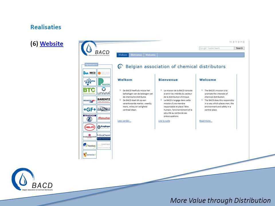 More Value through Distribution Realisaties (6) WebsiteWebsite