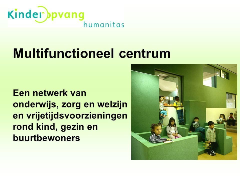 Multifunctioneel centrum Een netwerk van onderwijs, zorg en welzijn en vrijetijdsvoorzieningen rond kind, gezin en buurtbewoners