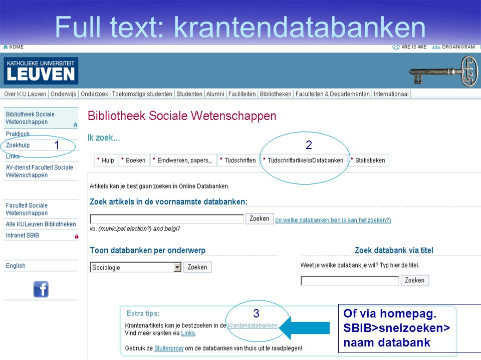 Full text: krantendatabanken 7-aug-1460 12 3 Of via homepag. SBIB>snelzoeken> naam databank