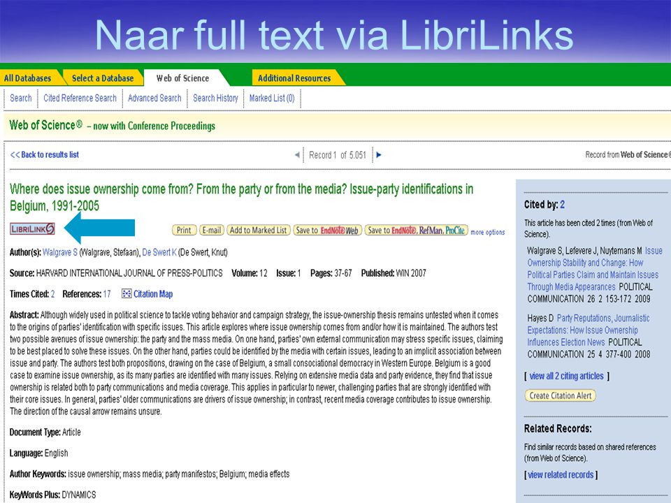 Naar full text via LibriLinks
