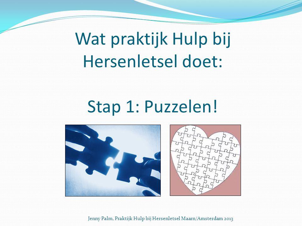 Wat praktijk Hulp bij Hersenletsel doet: Stap 1: Puzzelen.