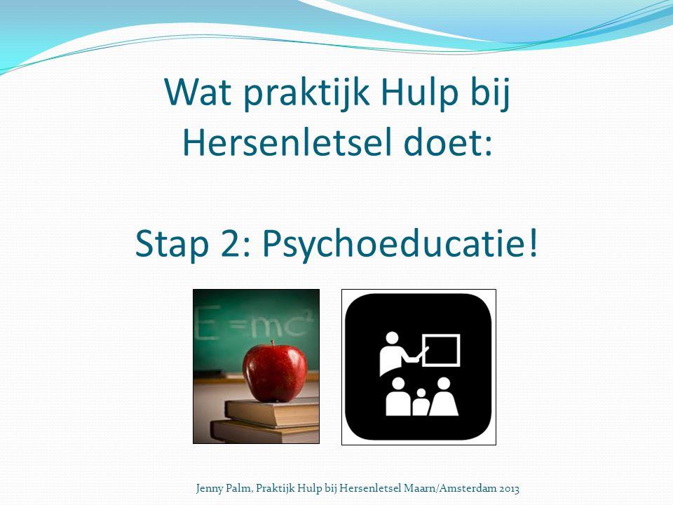 Wat praktijk Hulp bij Hersenletsel doet: Stap 2: Psychoeducatie.