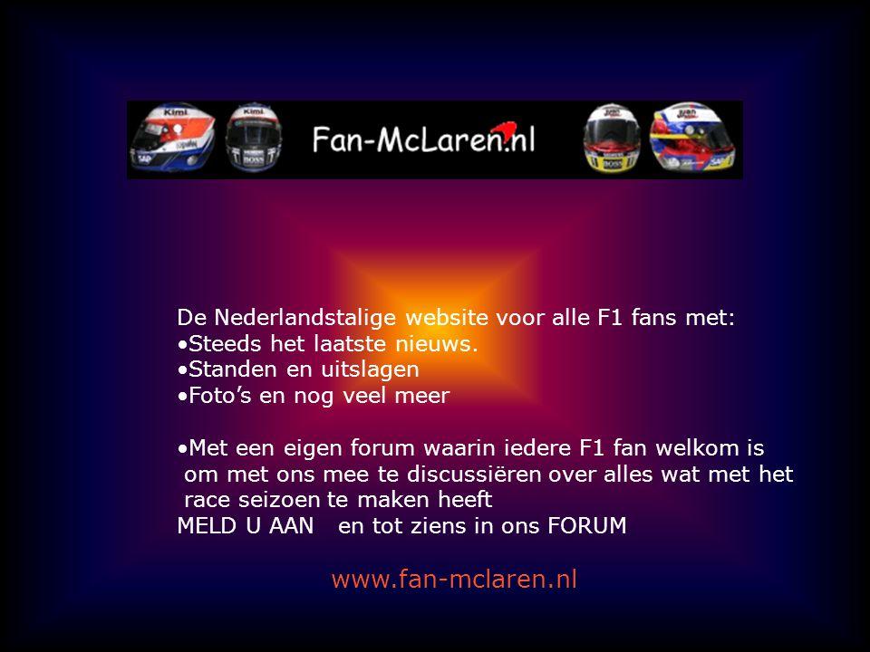 De Nederlandstalige website voor alle F1 fans met: Steeds het laatste nieuws.