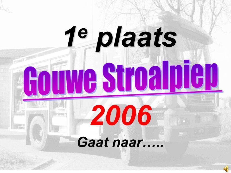 1 e plaats 1 e plaats 2006 Gaat naar…..