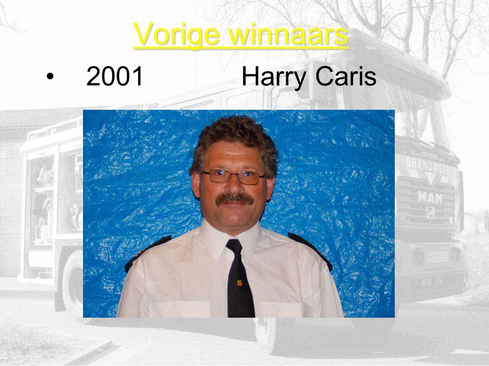 Vorige winnaars 2001Harry Caris