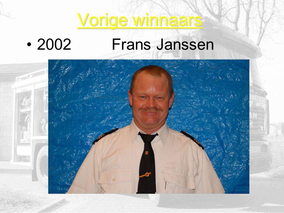 Vorige winnaars 2002Frans Janssen