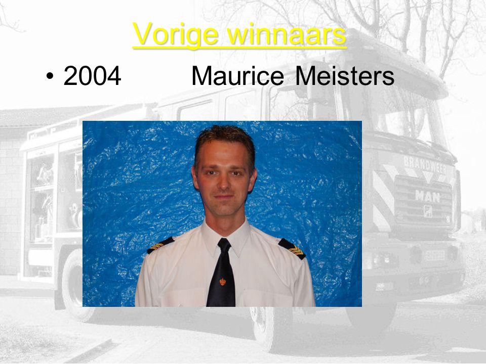 Vorige winnaars 2004Maurice Meisters
