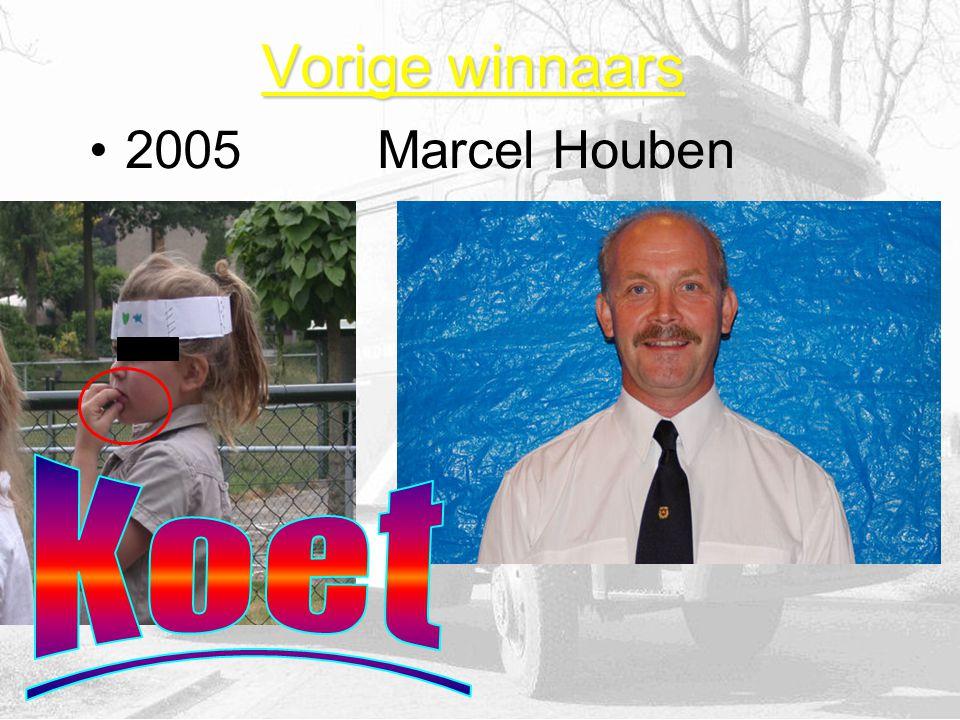 Vorige winnaars 2005Marcel Houben
