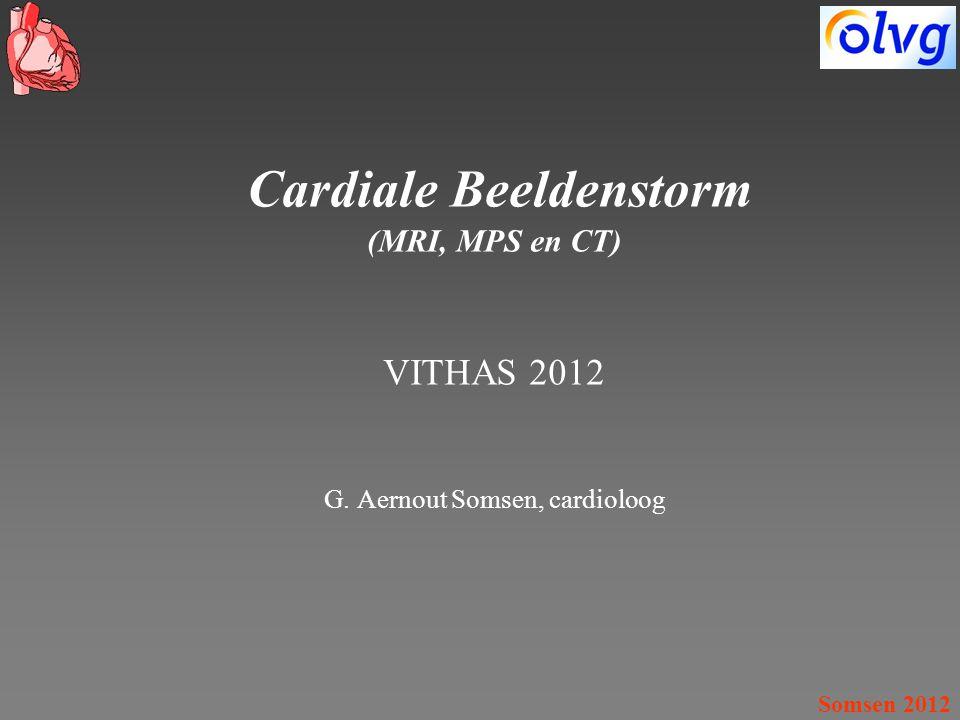Somsen 2012 Cardiale Beeldenstorm (MRI, MPS en CT) VITHAS 2012 G. Aernout Somsen, cardioloog