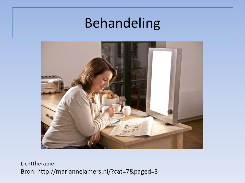 Behandeling Lichttherapie Bron: http://mariannelamers.nl/?cat=7&paged=3