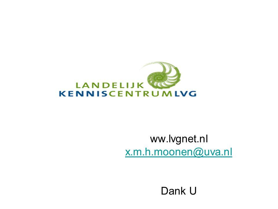 ww.lvgnet.nl x.m.h.moonen@uva.nl Dank U