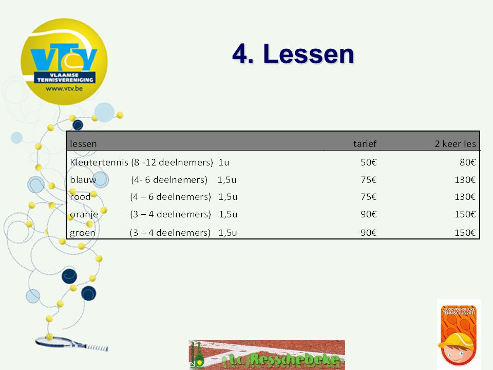 4. Lessen