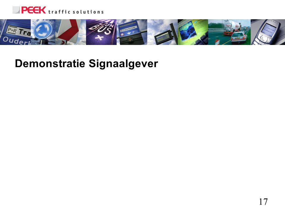 17 Demonstratie Signaalgever