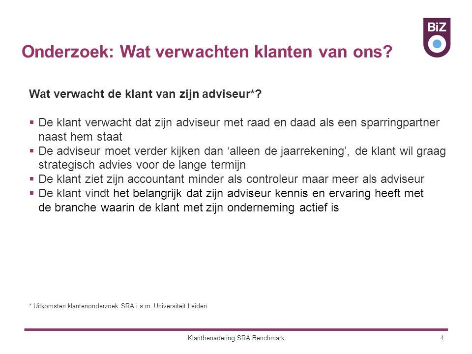 Onderzoek: Wat verwachten klanten van ons. 4 Wat verwacht de klant van zijn adviseur*.