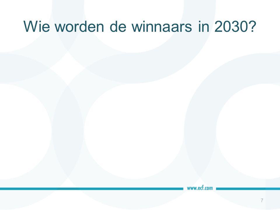Wie worden de winnaars in 2030? 7