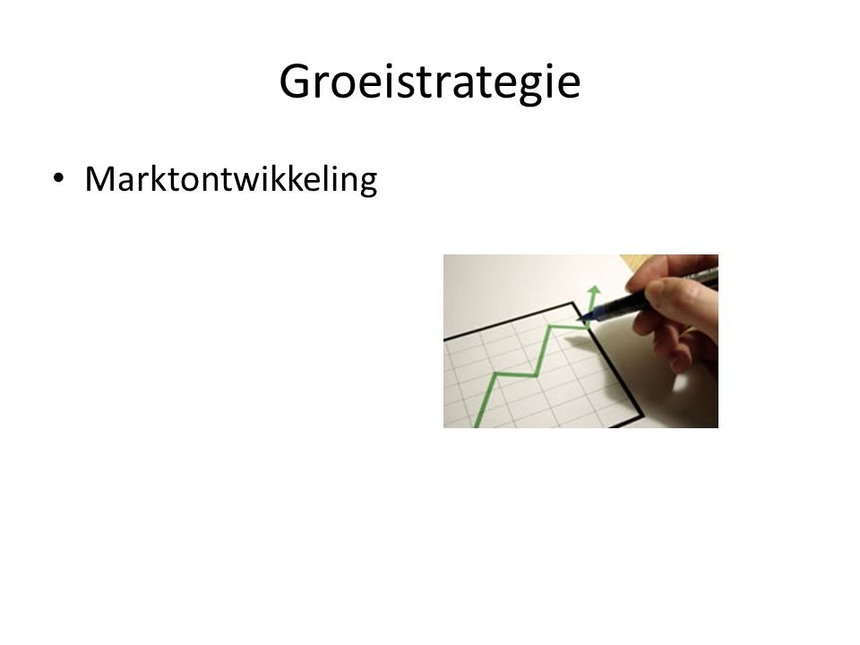 Groeistrategie Marktontwikkeling