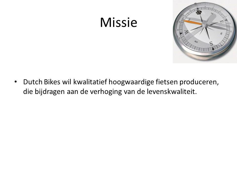 Missie Dutch Bikes wil kwalitatief hoogwaardige fietsen produceren, die bijdragen aan de verhoging van de levenskwaliteit.