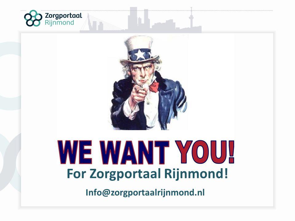 For Zorgportaal Rijnmond! Info@zorgportaalrijnmond.nl