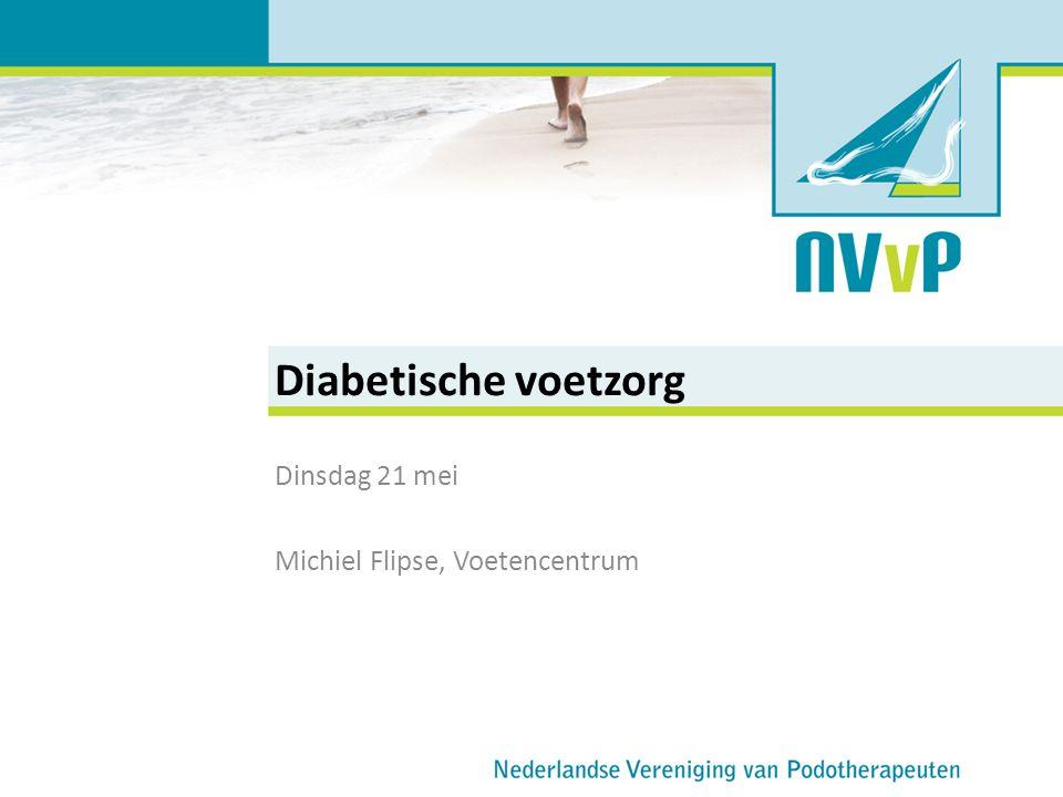 Diabetische voetzorg Dinsdag 21 mei Michiel Flipse, Voetencentrum