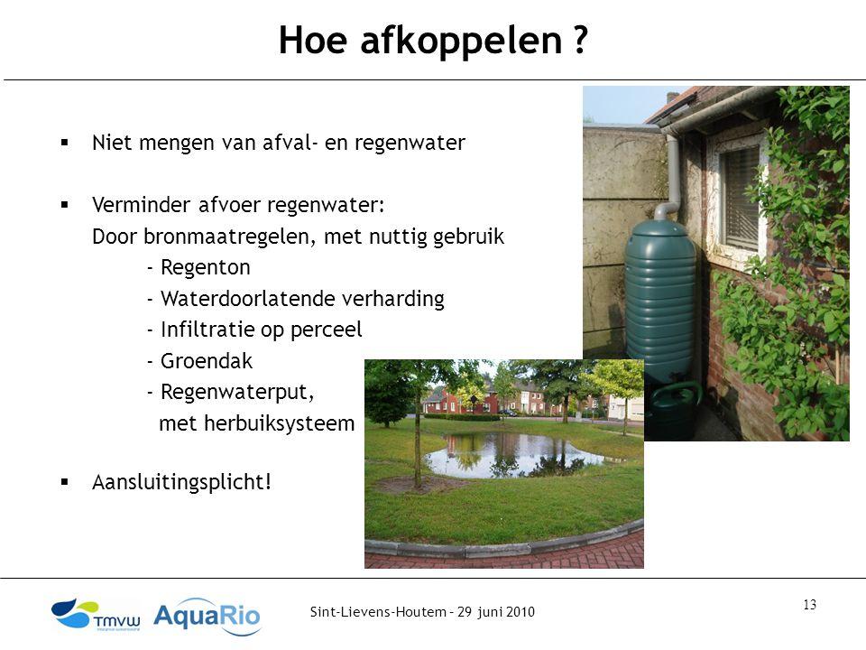 Sint-Lievens-Houtem – 29 juni 2010 13 Hoe afkoppelen .