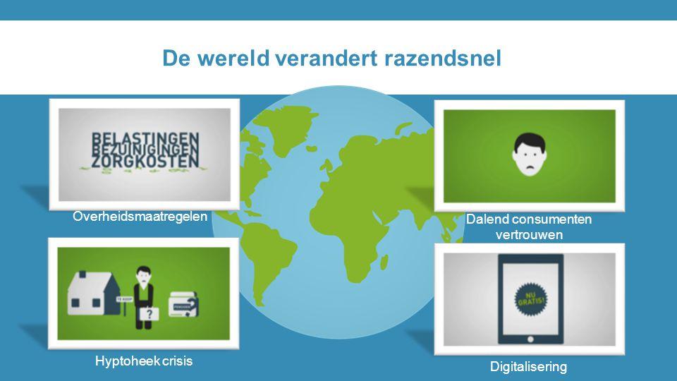 De wereld verandert razendsnel Dalend consumenten vertrouwen Hyptoheek crisis Overheidsmaatregelen Digitalisering