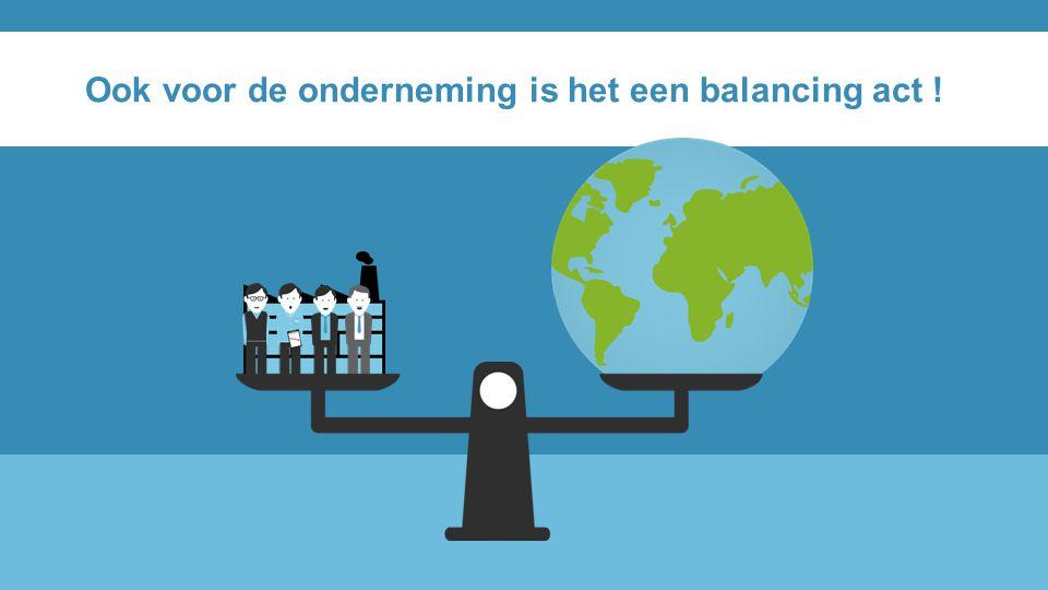 Ook voor de onderneming is het een balancing act !