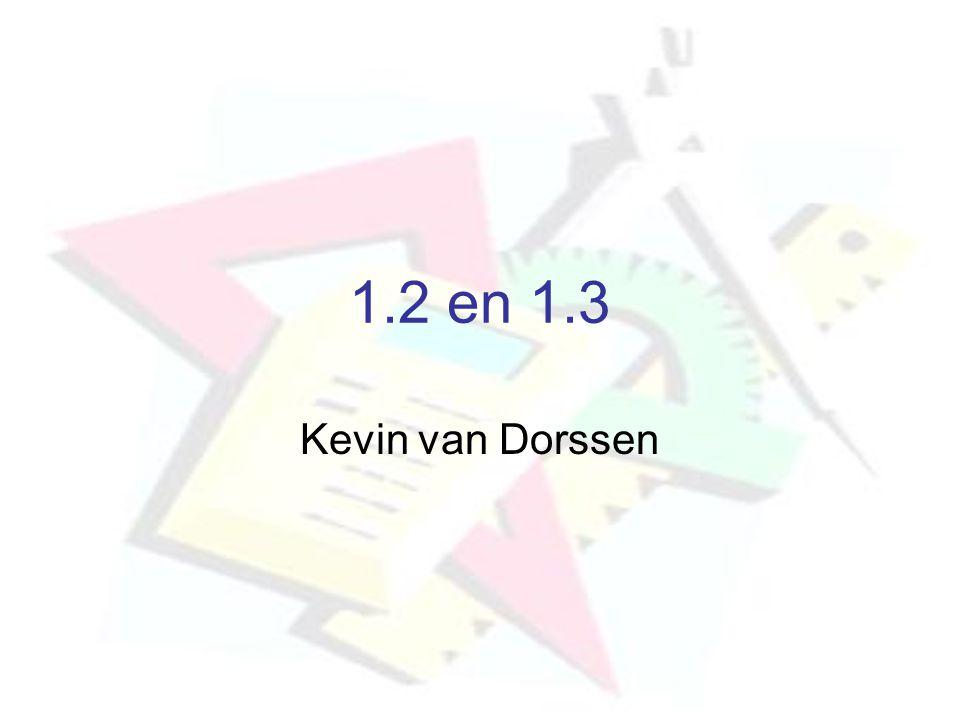 1.2 en 1.3 Kevin van Dorssen