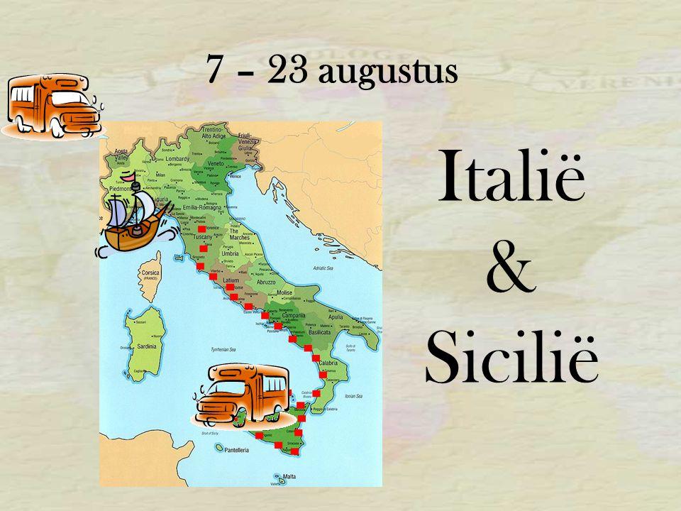 7 – 23 augustus Italië & Sicilië