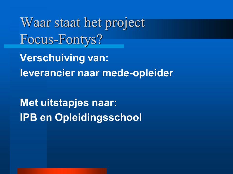 Visie op opleiden in de school: Opleidingsschool/ PDS Personeelsbeleid: IPB, gericht op vernieuwing van onderwijs Professionalisering: door onderwijso